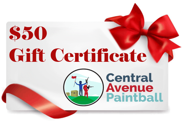 $50 paintball Gift Certificates